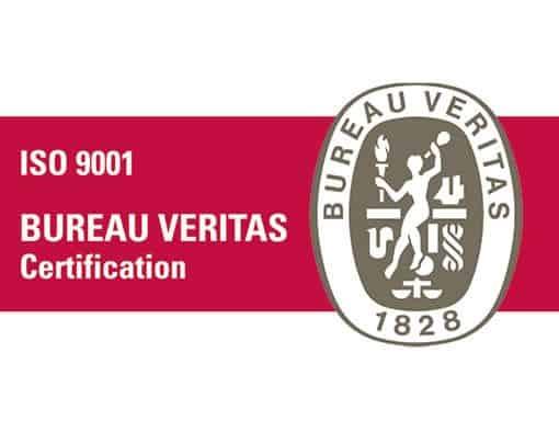 Leistung und Sicherheit und Umweltmanagement Zertifikat des Bureau Veritas