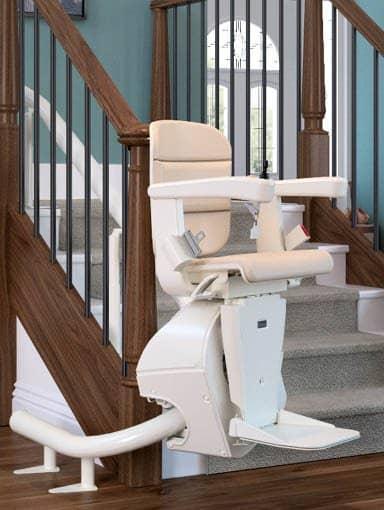 Kurvige Treppenlifte Beispiel für Einschienensystem