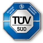 Leistung und Sicherheit Siegel vom TÜV Süd