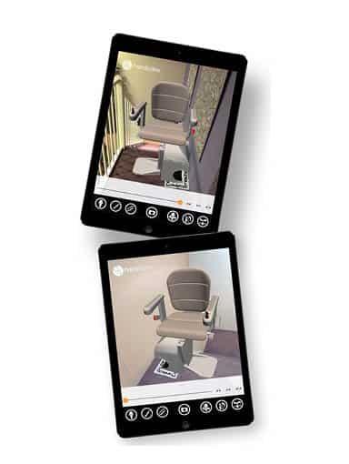 fertige digitale Ansicht des Treppenliftes für Kunden
