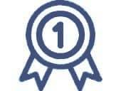 Leistungsauszeichnung für den Spitzenplatz Nummer 1 in der Kategorie Treppenlift