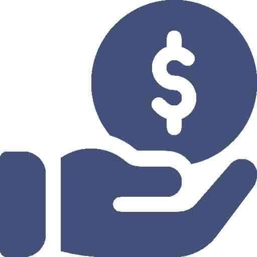 Treppenlift Zuschüsse von PrimaLift-Hand mit Geldsymbol